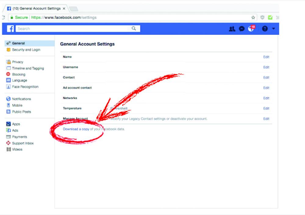 Comment récupérer voc données Facebook